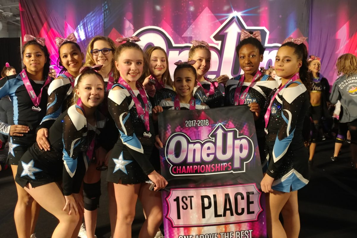First Place at the One Up Cheer Competition!